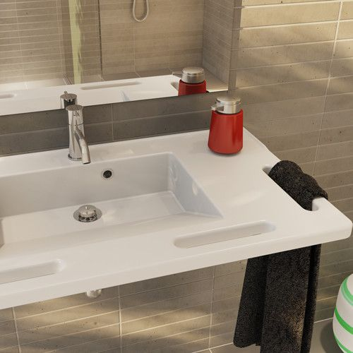 Fabulous Available with a range of basin options the Manual Height Adjustable Washbasin is a pact solution suitable for multiple bathroom requirements