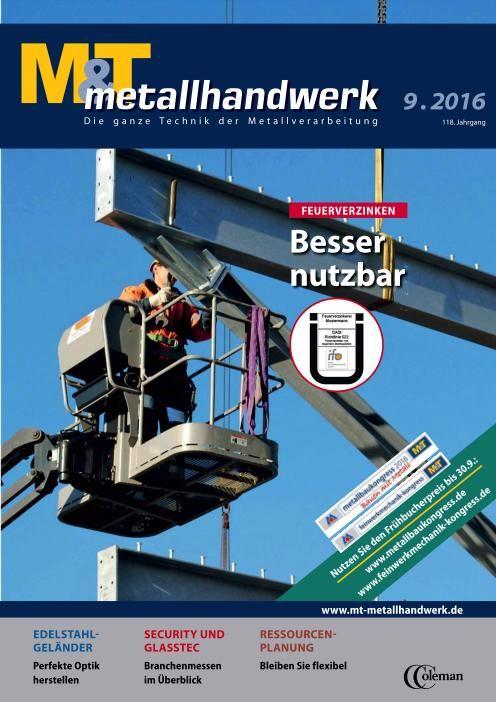 M&T metallhandwerk - Nr.9 2016