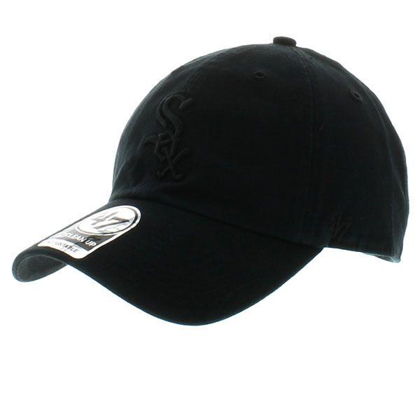 Chicago White Sox Black Clean Up Dad Hat | CraniumFitteds.com