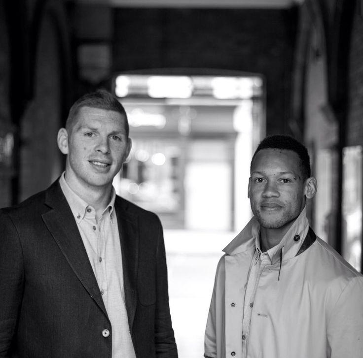 Team GB Rugby 7s in Oliver Sweeney clothing. Dan Norton & James Rodwell.