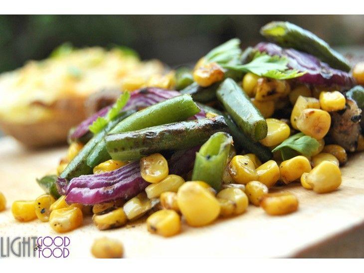 Antricot cu porumb, falose verde si cartof copt 11