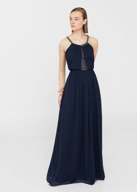 Φόρεμα σιφόν με χάντρες