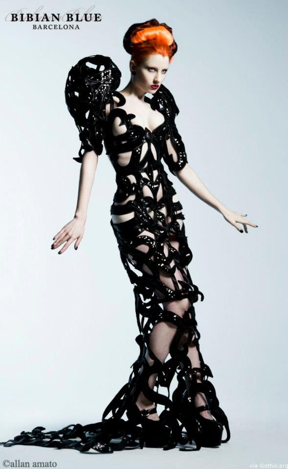 "Gown by Bibian Blue Fall 2012 ""eleven: eleven"""