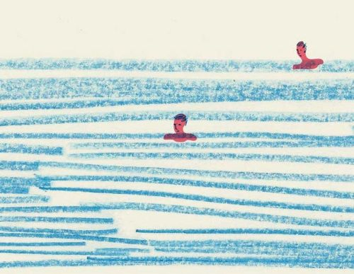 Drawing of Water Swimmers