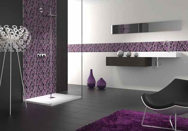 13 best images about dise os mosaicos on pinterest for Bathroom decor purple
