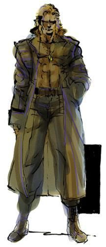 Liquid Snake:  Solid Snake's clone twin brother. Both Solid and Liquid Snake were the creations born from the 'Les Enfant Terribles' Project.