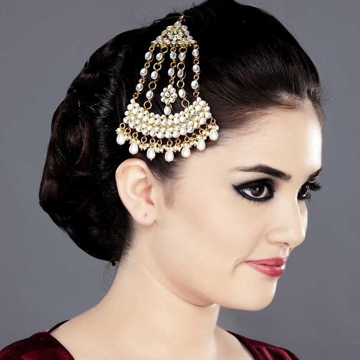 Jhoomar Headpiece with Kundan