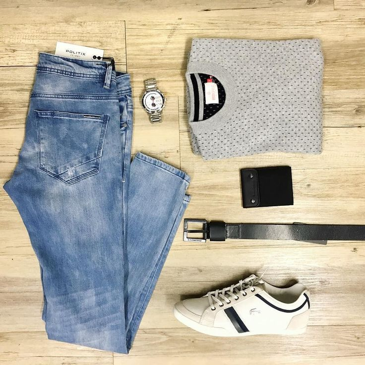 Simple for sundays. The sun is out - anything important can wait // NEW Politix jeans Brooksfield knit (on sale) Lacoste trainers Diesel watch Hugo Boss wallet and G-Star belt.  #mensfashion #trampsthestore #wollongong #PolitixMenswear #BrooksfieldAustralia #Lacosteshoes #weekend #dateday #mensfashion #ootd #jeans #dapper #gent #flatlay #autumnWinter #tailoredfashion #menWithStyle