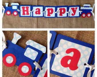 Tren cumpleaños paquete decoraciones de la por thesinginghoneybee                                                                                                                                                                                 Más