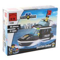 Конструктор классический Enlighten Brick Полиция 130 Полицейский катер