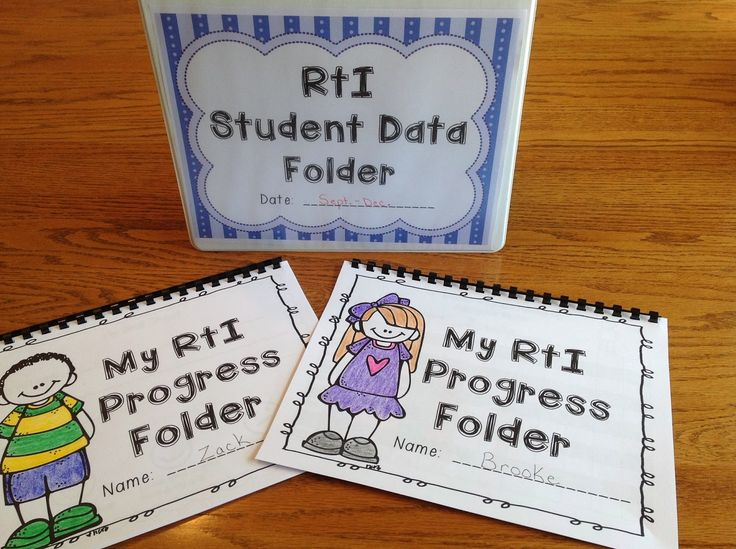 Get your RtI Intervention time organized! RtI Teacher and Student Data Binders$ for RTI time Different Binders for K-3