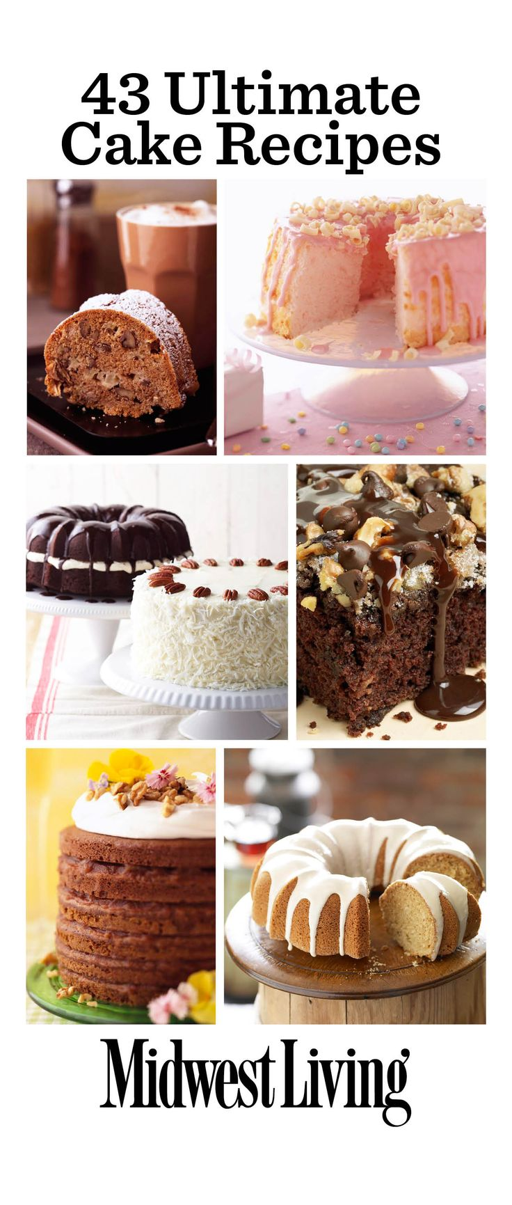 Our best cake recipes! http://www.midwestliving.com/food/desserts/favorite-cake-recipes/