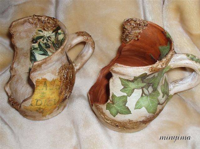 Handmade candle holders