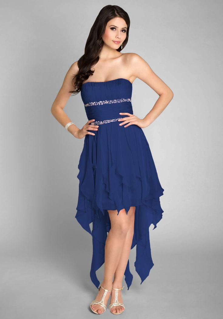 Kleid vorne kurz hinten lang ohne trager