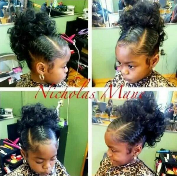 Perfect For A Little Flower More Black Kids Hairstyleslil