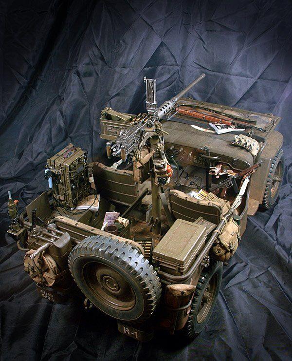 "MODELISMO Y MODELISTAS ""THE MASTERS"" III (ANEXO MILITARIA/CIVIL): ARMY: ""Jeep Willys"" Esc 1/6 by Serang Kim"