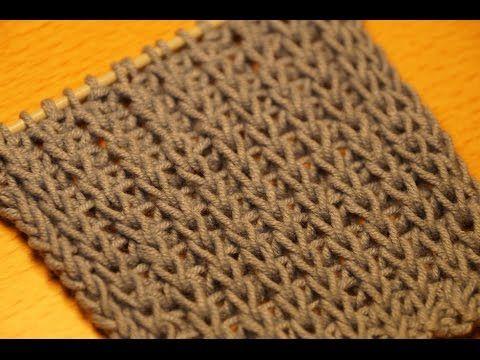 Вязание спицами для начинающих. Английская резинка //// Knitting for beginners. British gum - YouTube
