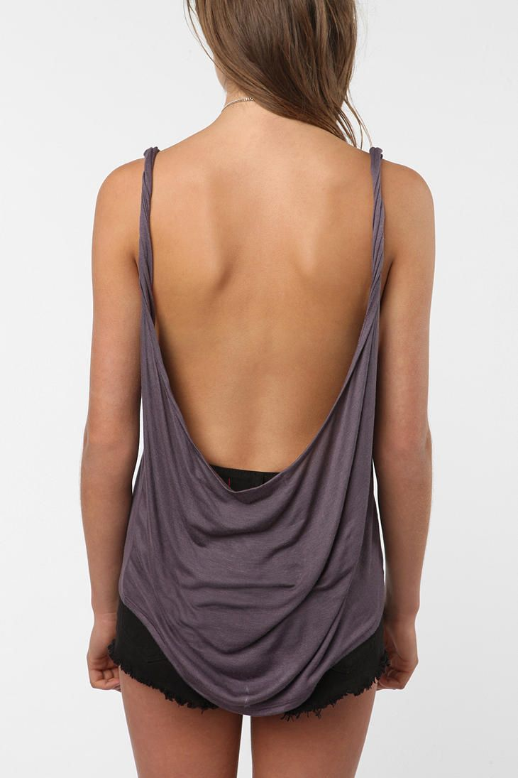 Daydreamer La Twisted Low Back Tank Top Urbanoutfitters