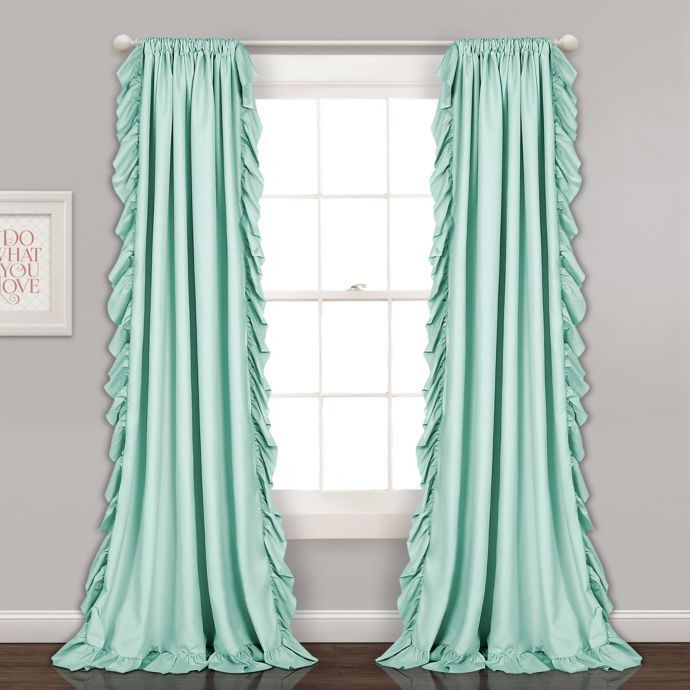 Reyna Rod Pocket Window Curtain Panel Pair Lush Decor Curtains