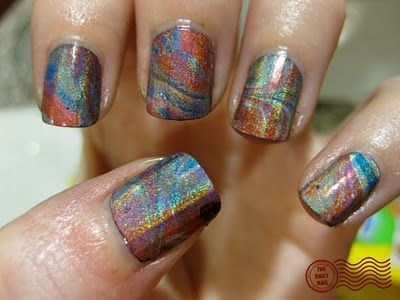 #nails: Oil Slick, Nails Art, China Glaze, Ties Dyes, Nails Polish, Rainbows Nails, Art Nails, Water Marbles, Marbles Nails