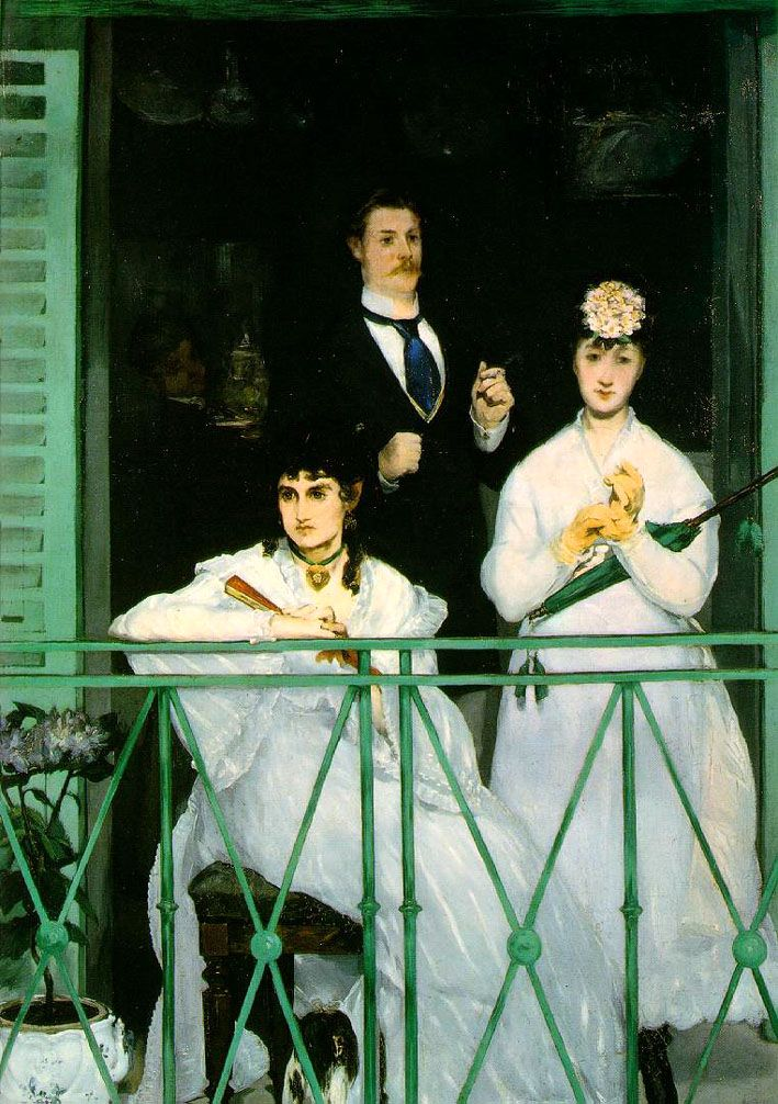 Le Balcon (The Balcony) painting by Edouard Manet...but a New Orleans family painted during his time there....