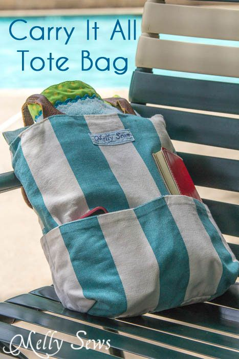 Carry Everything Tote Tutorial and free Pattern - Melly Sews