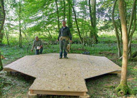 building bell tent platform
