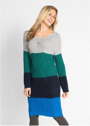 90fbabf469df Pletené šaty s proužky