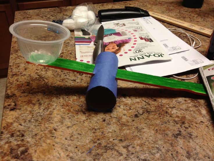 Simple machine project for kids. All you need is a paint stirrer, a ...