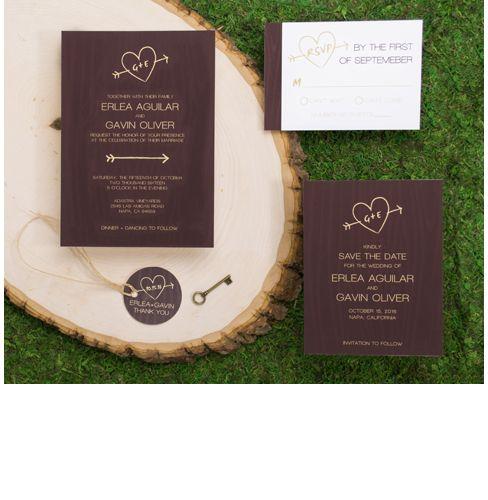 3 oaks vineyard wedding invitations