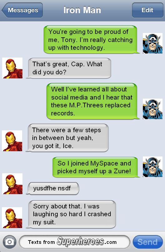 Texts From Superheroes - The Best Of The Avengers (1)