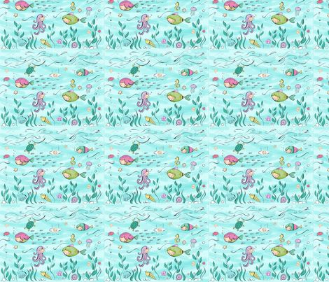 Debajo del mar fabric by ninuk on Spoonflower - custom fabric