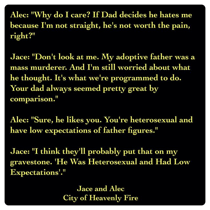 Jace Lightwood and Alec Lightwood (City of Heavenly Fire by Cassandra Clare ~ The Mortal Instruments book 6) Quote