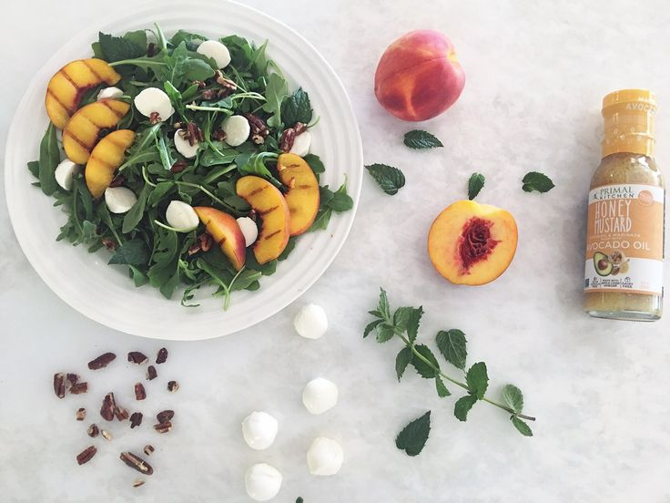 Primal Kitchen and Taylor Farms Easy Salad Recipes // Summer // Peaches // Clean Eating // Healthy lifestyle
