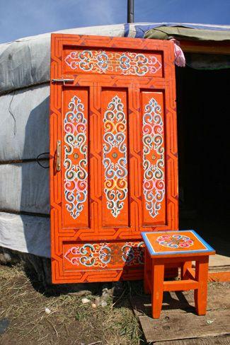 Mongolian Ger Door