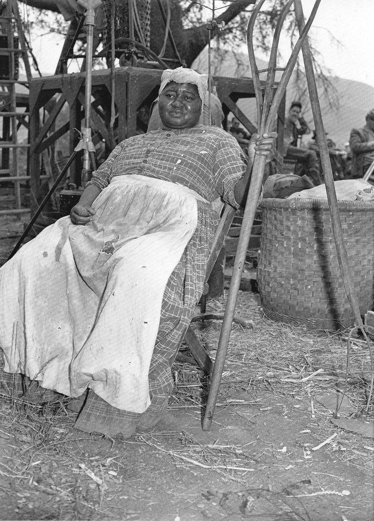 Hattie McDaniel takes a break during the filming of Gone With the Wind 1939