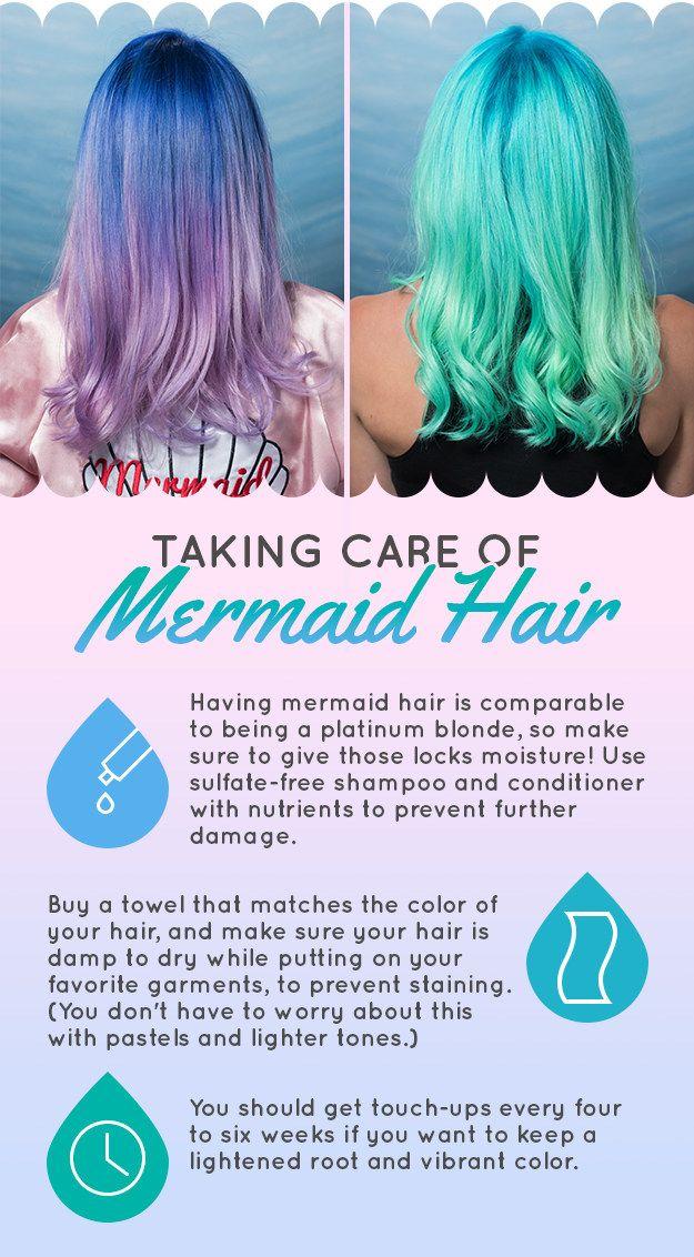 Taking care of mermaid hair 101.