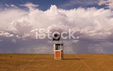 Phone in the outback Royalty Free Stock Photo