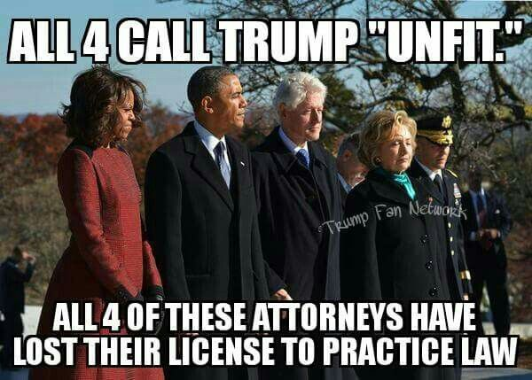 All 4 have either lost their license to practice law, had them suspended, or have inactive license.
