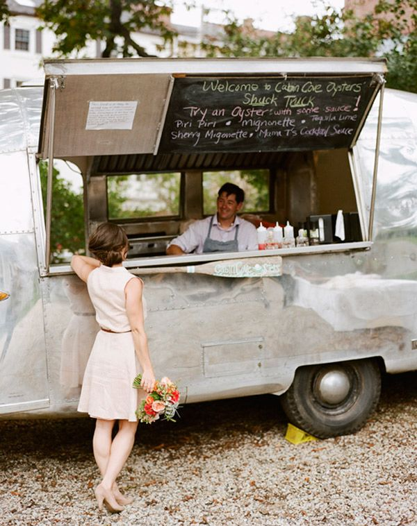Airstream Oyster Cafe - It is a dream of mine to serve tasty treats from a camper, trailer, or truck.