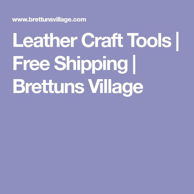 Leather Craft Tools | Free Shipping | Brettuns Village