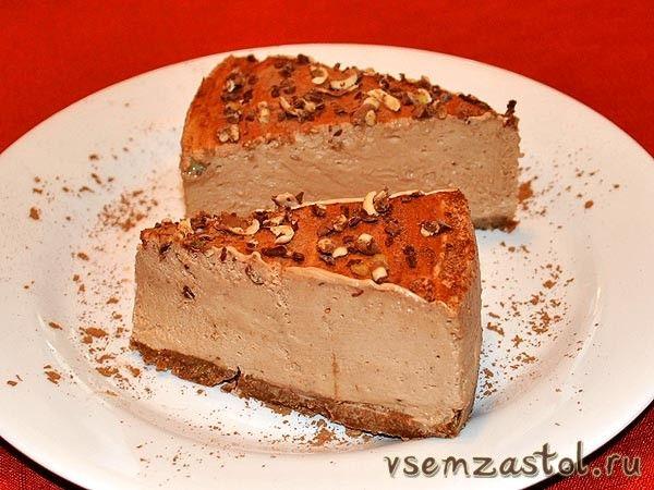 Торт-суфле шоколадно-творожный без выпечки