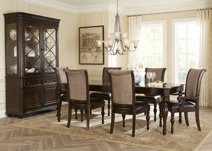 Liberty Furniture Kingston Plantation Seven Piece Rectangular Dining Table And Chair Set