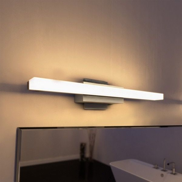 led bathroom lighting ideas. vonn lighting procyon 23inch led low profile satin nickel bathroom fixture overstock led ideas h