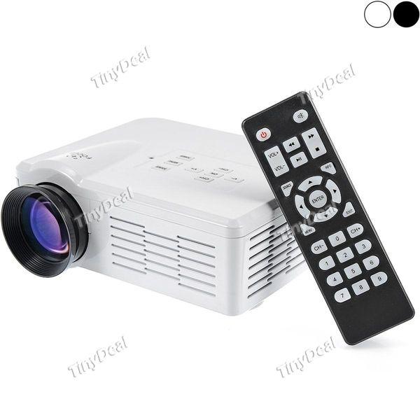 LED Projector LCD 600 x 480 Micro USB HDMI VGA AV-In USB SD TV Projectors OPJ-376859