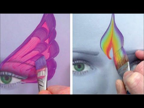 Perfect practice with 5 awesome brushes / Face Painting Made Easy PART 4 - YouTube