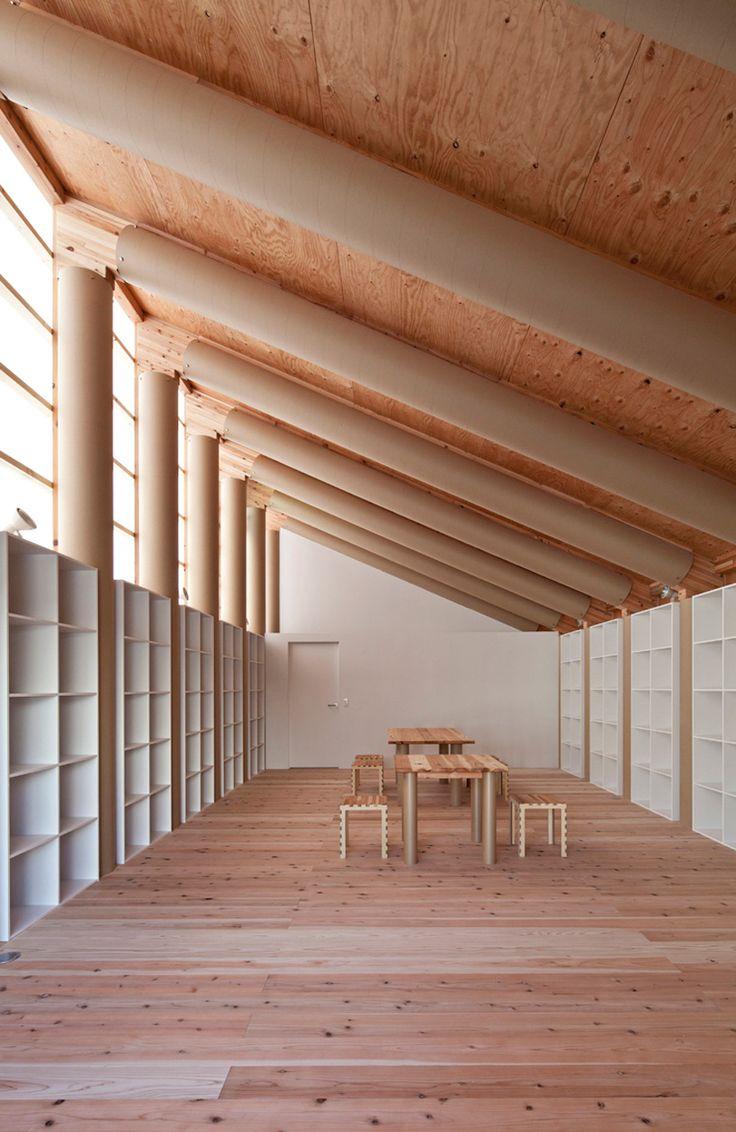 atelier for the 'onagawa temporary container housing' by shigeru ban architects, onagawa, miyagi, japan