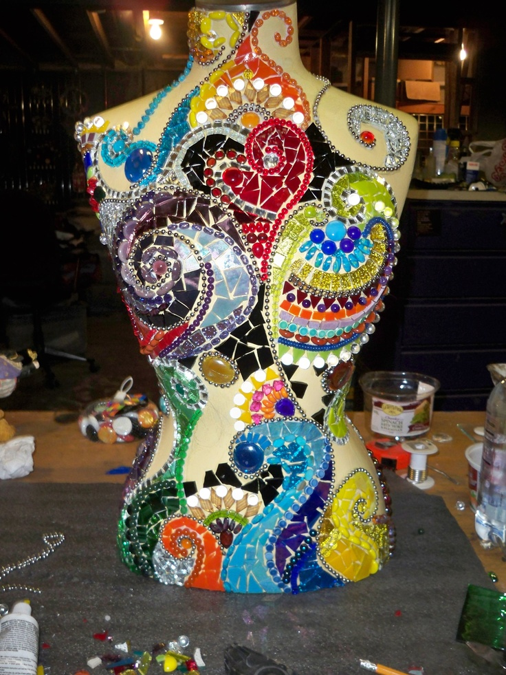 crazy amazing this is our mannequin almost done glass and mosaics pinterest mosaics. Black Bedroom Furniture Sets. Home Design Ideas