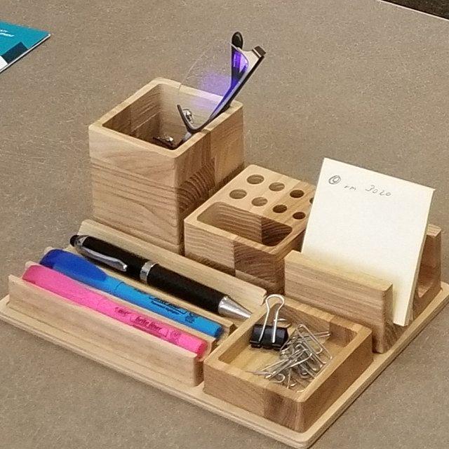Desk Organizer Choose Your Boxes Desk Organization Wooden Desk Etsy In 2020 Wooden Desk Organizer Desk Organization Wooden Desk