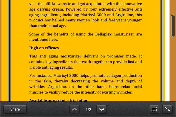 Some of the benefits of using the #Bellaplex #moisturizer are mentioned here.